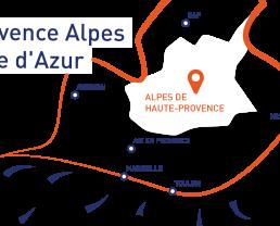 Nel cuore della regione Sud Provence Alpes Côte d'Azur