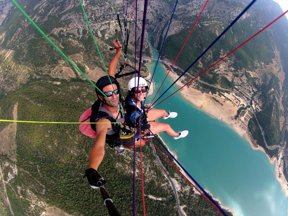 In parapendio nelle Verdon ©Roc n Vol