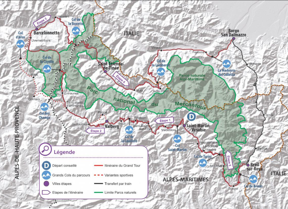 Grande Tour in bicicletta Alpi Marittime / Mercantour