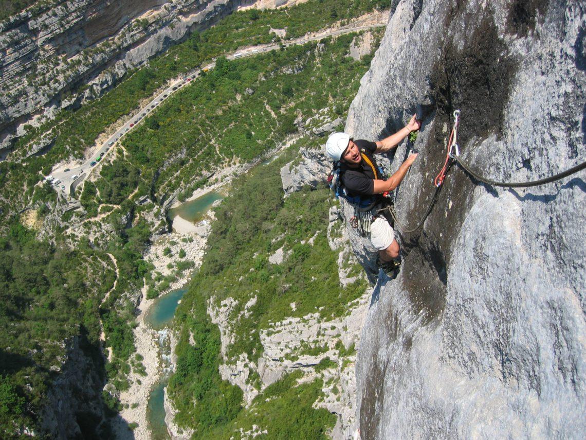 Alpinismo e arrampicata nelle Gorges du Verdon ©Lionel