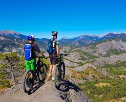 "Mountain-bike nelle ""terres noires"" terra nera"