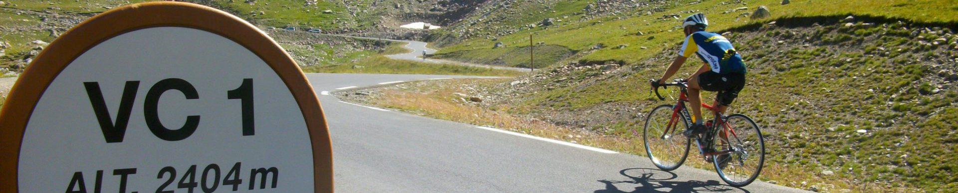 In bici nella valle dell'Ubaye valico della Bonette